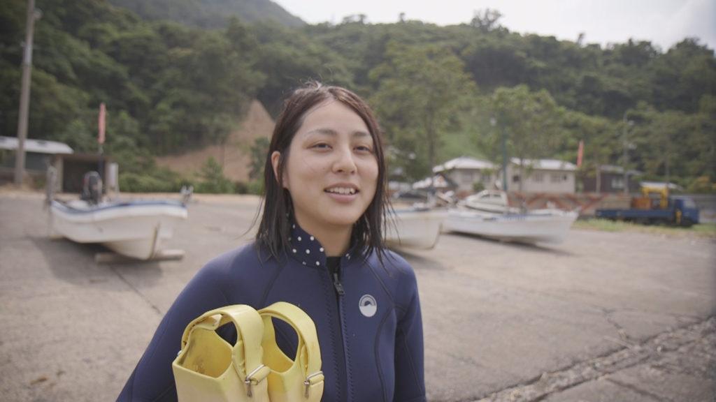 海女さん研修中の眞田さんのイン...